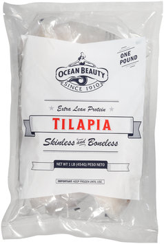Ocean Beauty Extra Lean Protein Skinless & Boneless Tilapia 1 lb. Pack