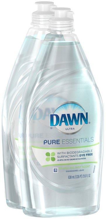 Pure Essentials Dawn Pure Essentials Sparkling Mist Scent Dishwashing Liquid Twin Pack 24 oz