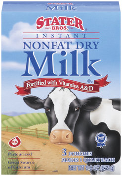 Stater Bros. Instant Nonfat Dry Milk 9.6 Oz Box
