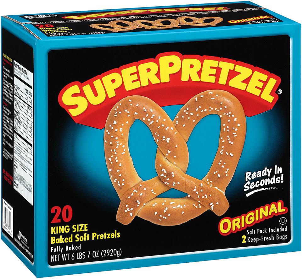 SuperPretzel® Original King Size Baked Soft Pretzels 20 ct. Box