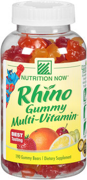 Nutrition Now® Rhino Gummy Multi-Vitamin™ 190 ct. Plastic Bottle