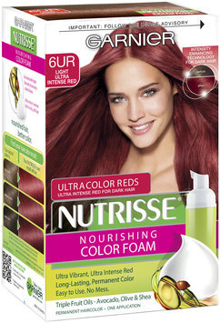 Garnier® Nutrisse® Nourishing Color Foam, 6UR Light Ultra Intense Red
