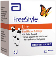 Freestyle Lite For In Vitro Diagnostic Use  Test Strips Not For Retail Sale 50 Ct Box