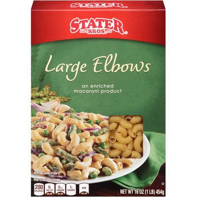 Stater Bros.® Large Elbows Pasta 16 oz. Box