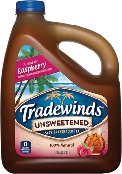 Tradewinds® A Hint of Raspberry Unsweetened Iced Tea 1 gal. Jug