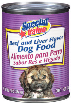 Special Value Beef and Liver Flavor Dog Food 13.2 oz. Can