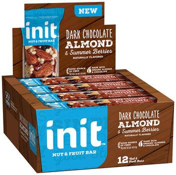 Init™ Dark Chocolate Almond & Summer Berries Nut & Fruit Bars 12 ct Box