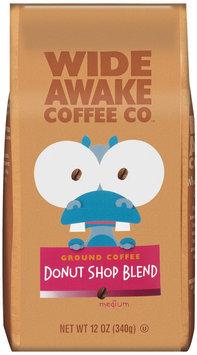 Wide Awake Coffee Company Donut Shop Blend Medium Ground Coffee 12 Oz Stand Up Bag