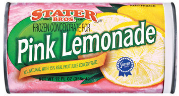 Stater Bros. Pink Frozen Concentrate Lemonade 12 Oz Can