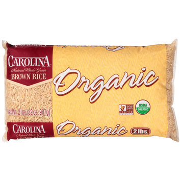 Carolina® Organic Natural Whole Grain Brown Rice 2 lb. Bag