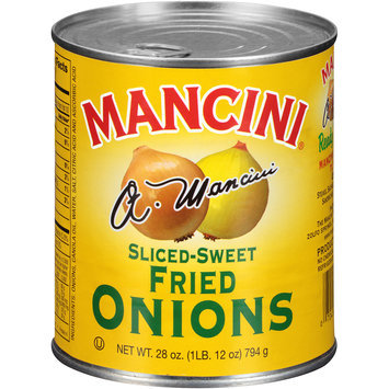 Mancini® Sliced-Sweet Fried Onions 28 oz. Pull-Top Can