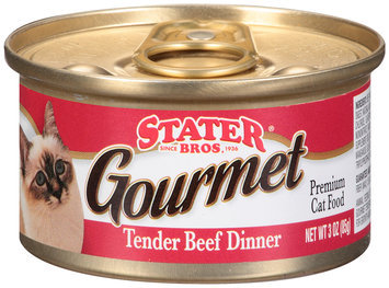 Stater Bros.® Gourmet Tender Beef Dinner Premium Cat Food 3 oz. Pull-Top Can
