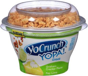 YoCrunch® YOPA!™ Key Lime with Graham Cracker Pieces Greek Nonfat Yogurt 5.3 oz. Cup