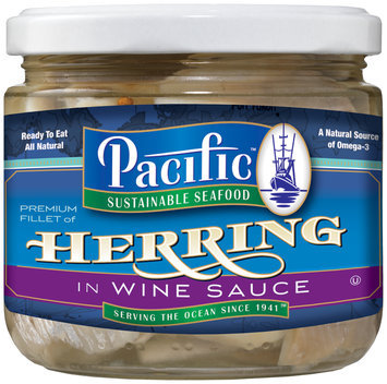Pacific Sustainable Seafood™ Premium Fillet of Herring in Wine Sauce 12 oz. Can