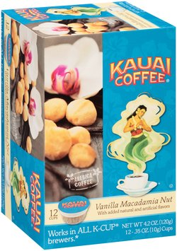 Kauai Coffee® Vanilla Macadamia Nut Coffee Single Serve Cups 12 ct Box