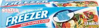 Stater Bros.® Slide Zipper Closure Gallon Freezer Bags 13 ct. Box