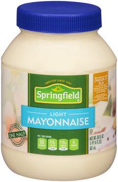 Springfield® Light Mayonnaise 30 fl. oz. Jar