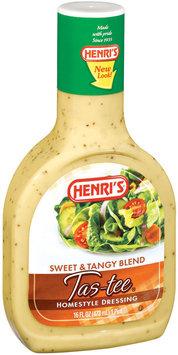 Henri's Tas-Tee Sweet & Tangy Blend Homestyle Dressing 16 Oz Plastic Bottle