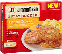 Jimmy Dean® Cheese Lovers Pork Sausage Patties 8 ct Box