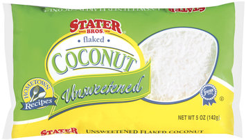 Stater brosaked Unsweetened Coconut