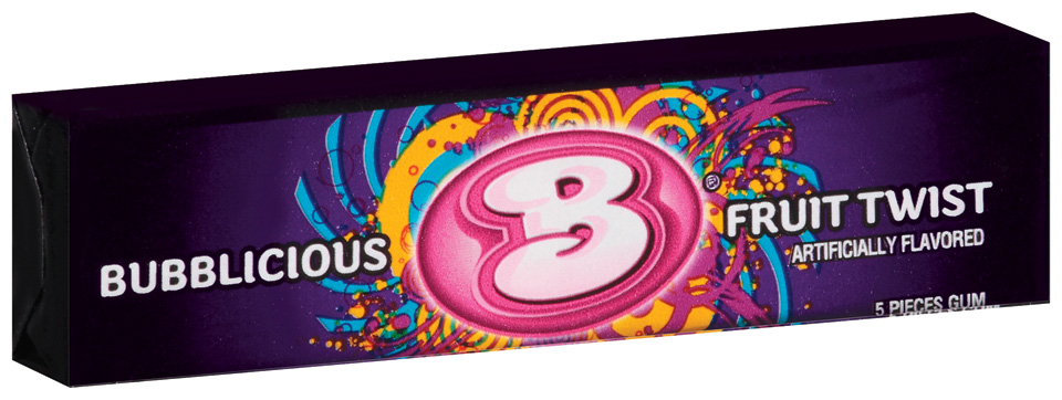 Bubblicious 5 Piece Packs Fruit Twist Bubble Gum 5 Ct