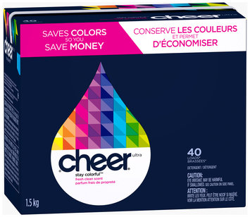 Cheer Fresh Clean Scent Powder Laundry Detergent 56 oz. Box