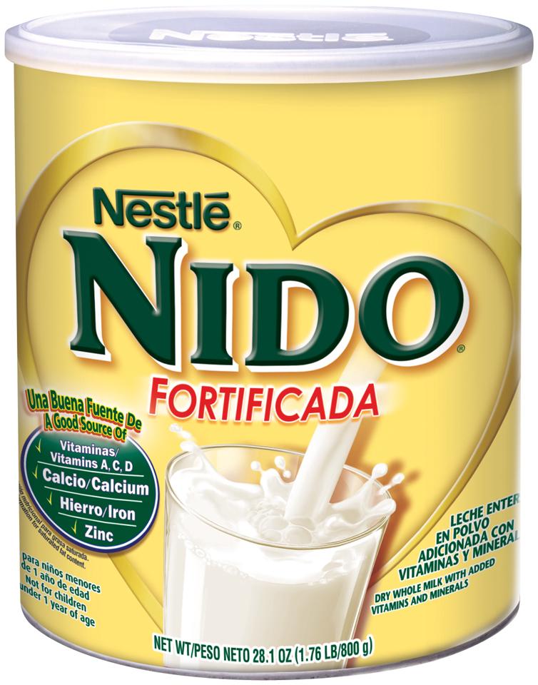 Nestlé NIDO Fortificada Dry Milk 28.1 oz. Canister