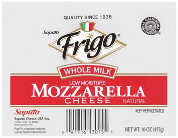 Frigo® Whole Milk Mozzarella Cheese 16 oz.