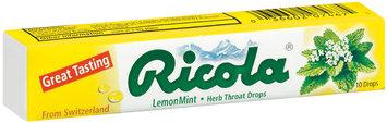 Ricola Lemon Mint Herb Throat Drops 10 Ct Pack