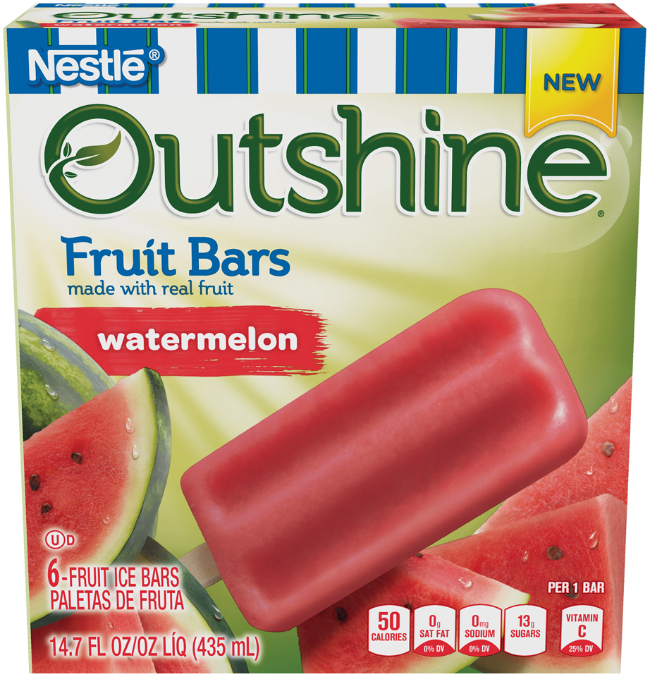 OUTSHINE Fruit Bars, Watermelon, 6 ct Box
