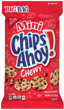 Nabisco Mini Chips Ahoy! Chewy Chocolate Chip Cookies 3 oz. Bag