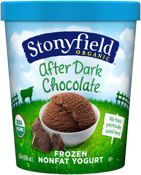 Stonyfield Farm™ Organic After Dark Chocolate Nonfat Frozen Yogurt 1 qt Carton