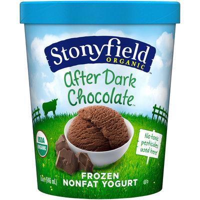 Stonyfield Farm™ Organic After Dark Chocolate Nonfat Frozen Yogurt 1 qt Carton