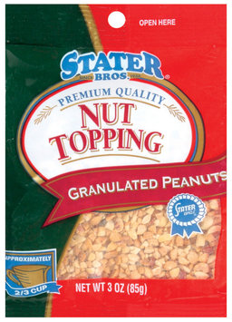 Stater Bros. Nut Topping Granulated  Peanuts 3 Oz Peg
