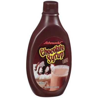 Schnucks Chocolate Flavored Syrup 24 Oz Plastic Bottle