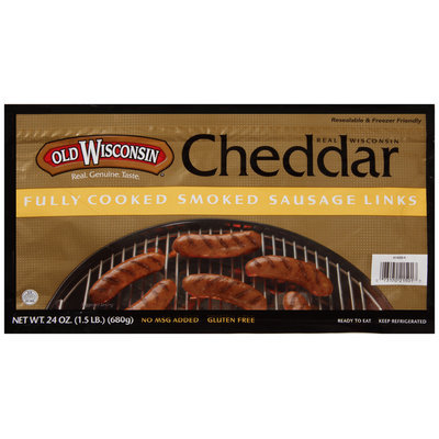 Old Wisconsin® Cheddar Smoked Sausage Links 24 oz. Pack