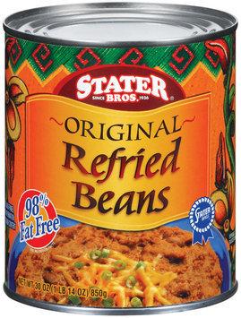 Stater Bros. Original Refried Beans 30 Oz Can