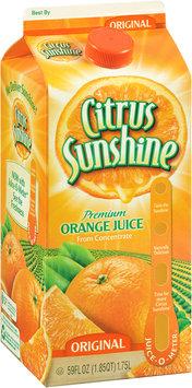 Citrus Sunshine® Premium Orange Juice from Concentrate Original