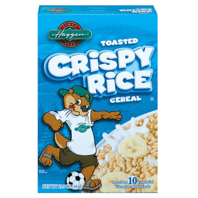 Haggen Toasted Crispy Rice Cereal 13.5 Oz Box