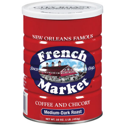 French Market & Chicory Medium-Dark Roast Ground Coffee 16 Oz Canister