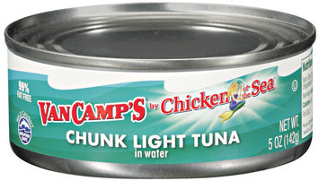 VAN CAMP'S Chicken of The Sea Chunk Light In Water Tuna 5 OZ CAN
