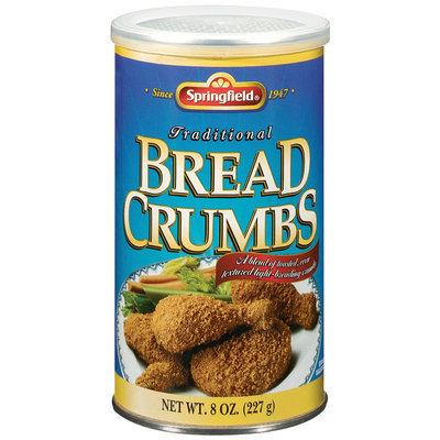 Springfield Traditional Bread Crumbs 8 Oz Canister