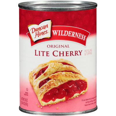Duncan Hines® Wilderness® Original Lite Cherry Pie Filling & Topping 20 oz. Can