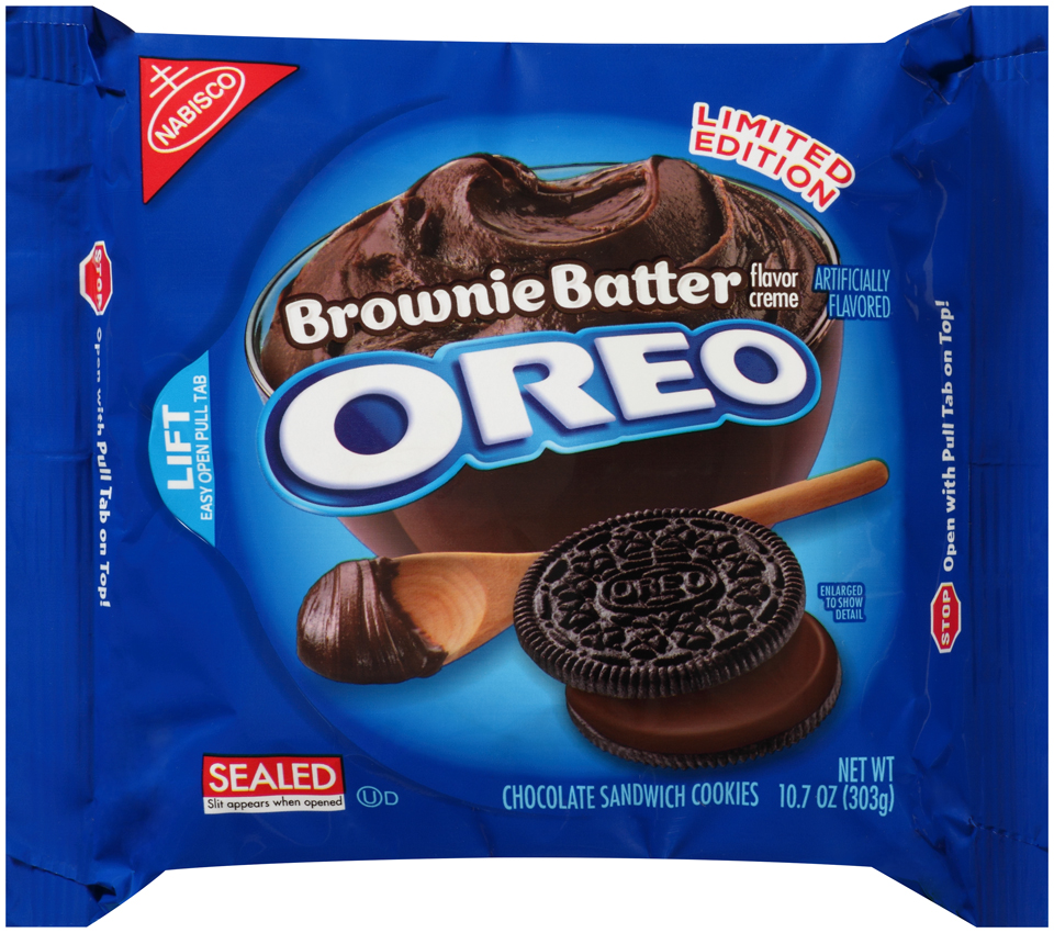 Nabisco Oreo Sandwich Cookies Brownie Batter Creme Chocolate