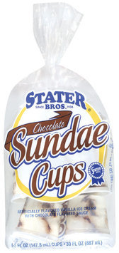 Stater Bros. Chocolate Sundae Cups 6 Cup Bag