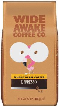 Wide Awake Coffee Company Espresso Bold Whole Bean Coffee 12 Oz Stand Up Bag