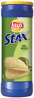 Lay's® Stax® Dill Pickle Flavored Potato Crisps 5.5 oz. Canister