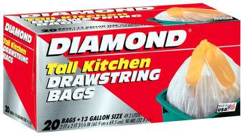 DIAMOND Tall Drawstring 13 Gal Kitchen Bags 20 CT BOX