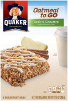 Quaker® Oatmeal to Go Apple & Cinnamon Breakfast Bars 6 ct Box