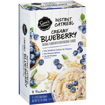 Sam's Choice™ Creamy Vanilla Blueberry Instant Oatmeal 8-1.34 oz. Packets